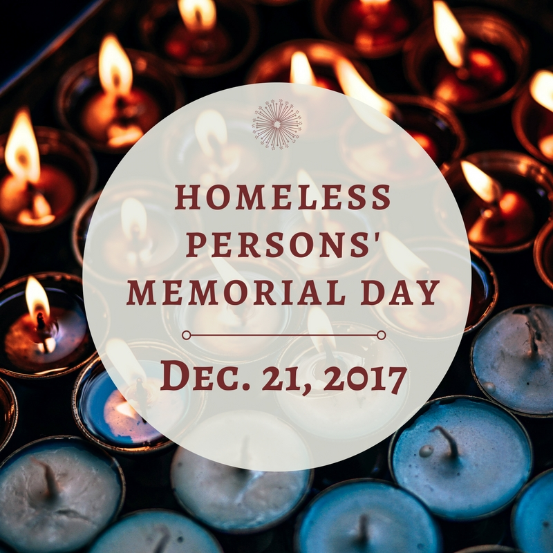 560f90aff856 Honoring Homeless Person s Memorial Day - December 21st - TCCAP